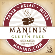 MANINIS® GLUTEN FREE is a company whose products were developed ten years ago by a mathematician mother and a chemical engineer father. Their mission: develop good tasting and nutritious rice-free, gluten-free bread products for their five-year old daughter diagnosed with celiac disease.